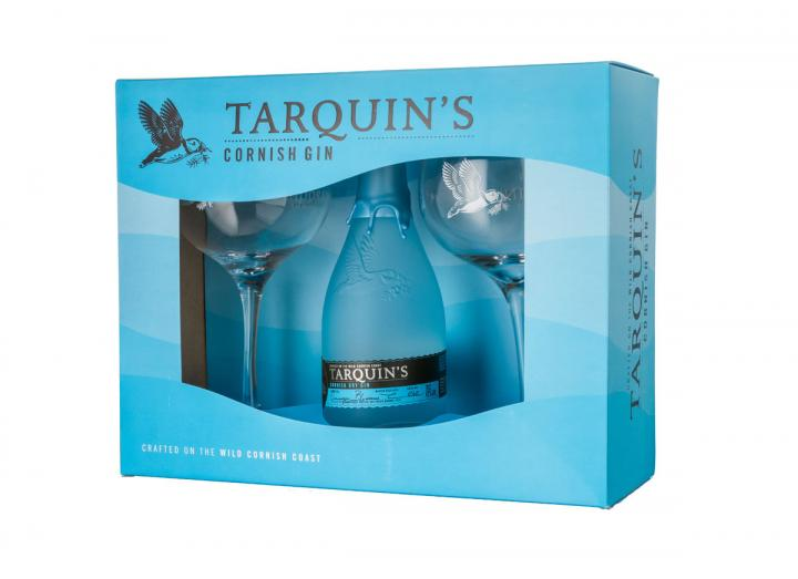 Tarquin's dry gin & glasses gift set