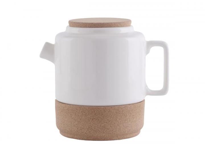 Ceramic & cork teapot