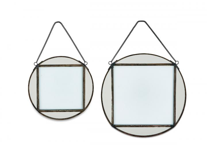 Teema round frames in antique black from Nkuku