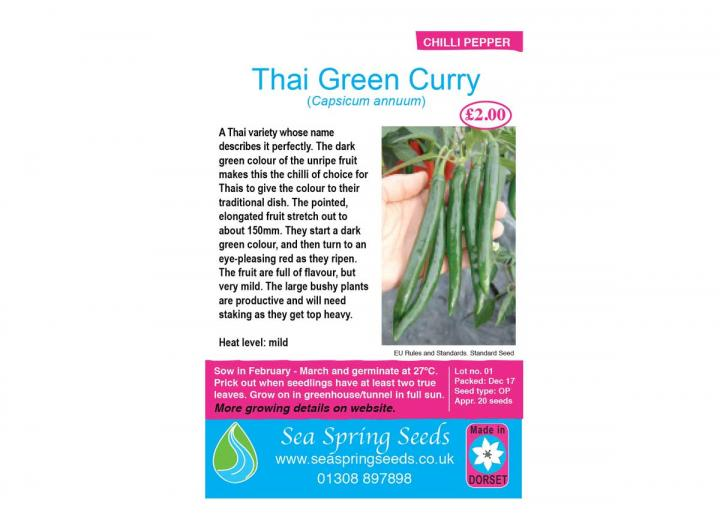 Thai green curry chilli seeds