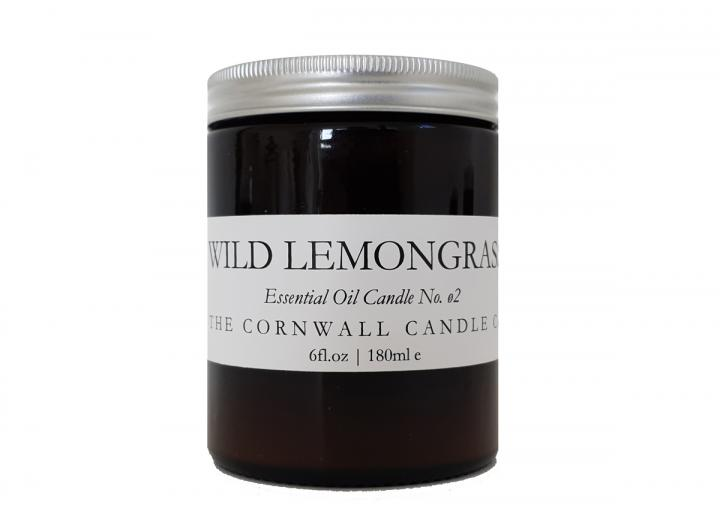 Wild Lemongrass scented candle handmade in Cornwall by The Cornwall Candle Co,