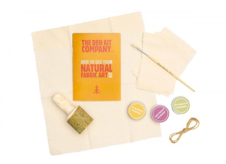 The Den Kit Co. natural fabric art kit