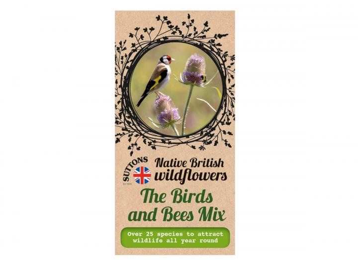 Native British wildflower seeds the bird and bees mix