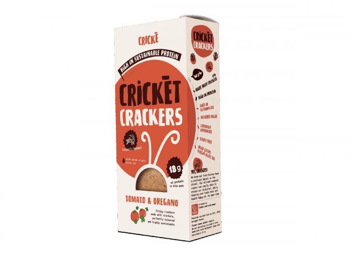 Tomato & oregano cricket crackers