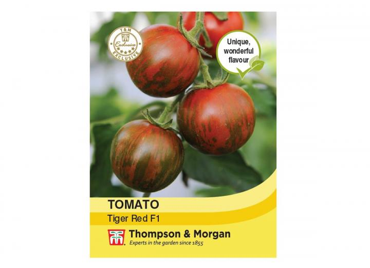 Tomato 'Tiger Red' seeds from Thompson & Morgan
