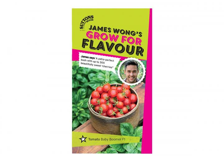 Tomato 'baby boomer f1' seeds, part of the grow for flavour range from James Wong