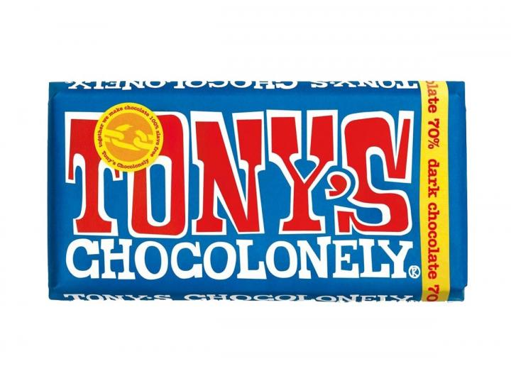 Tony's Chocolonely 70% dark chocolate 180g bar