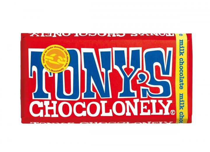 Tony's Chocolonely 32% milk chocolate 180g bar