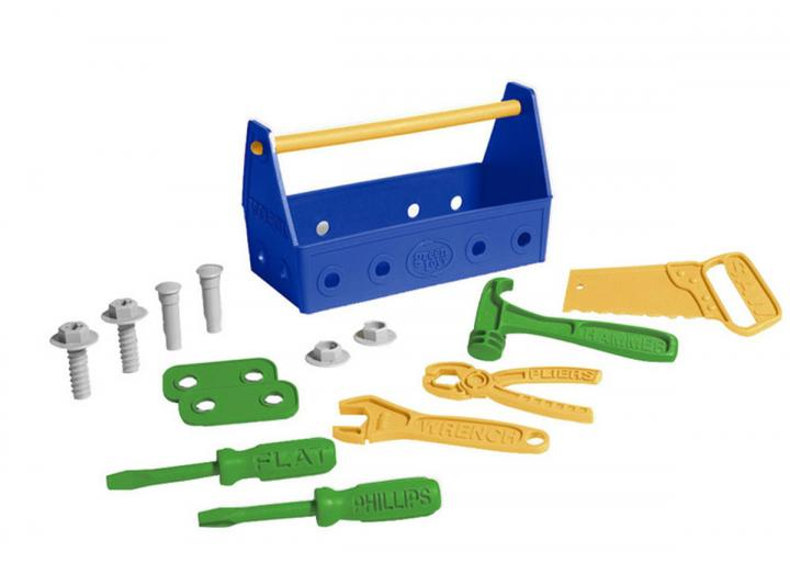 Tool set blue recycled plastic