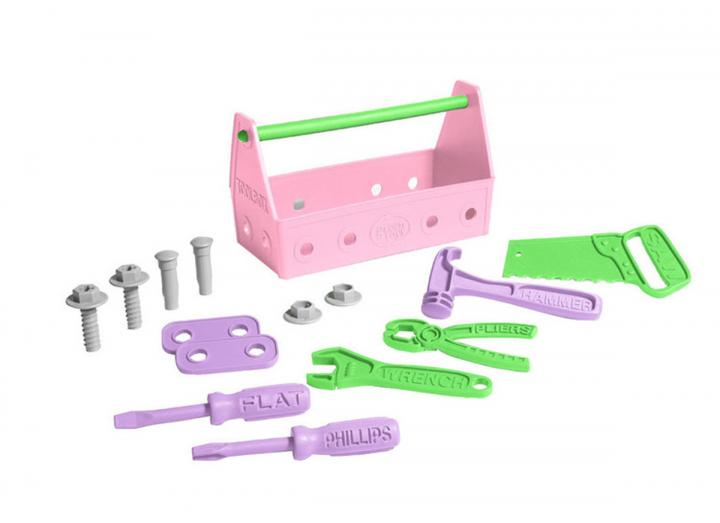 Tool set pink recycled plastic