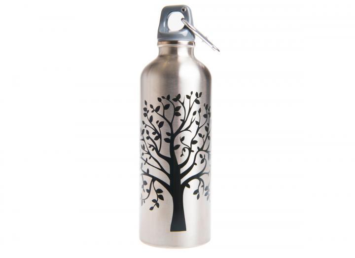 Stainless steel tree design drinking bottle