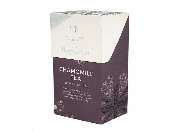 Tregothnan Chamomile tea 21 tea bag sachet box