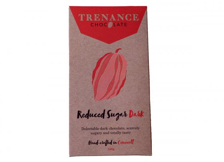 Trenance reduced sugar dark chocolate bar