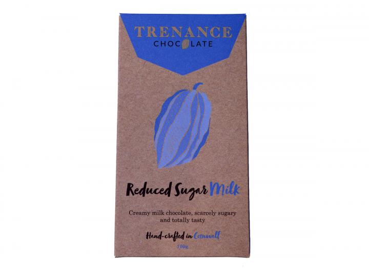 Trenance reduced sugar milk chocolate bar