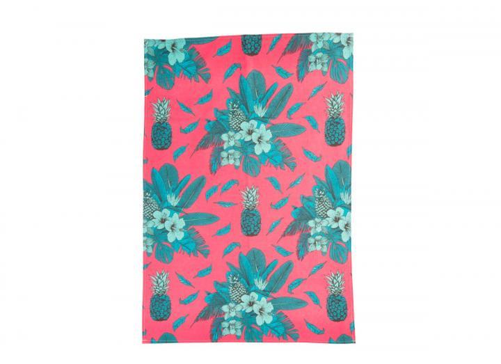 Eden Project tropical print organic cotton tea towel