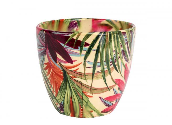 Ivyline Monza tropical print plant pot