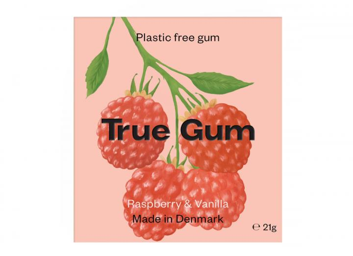 True Gum raspberry & vanilla
