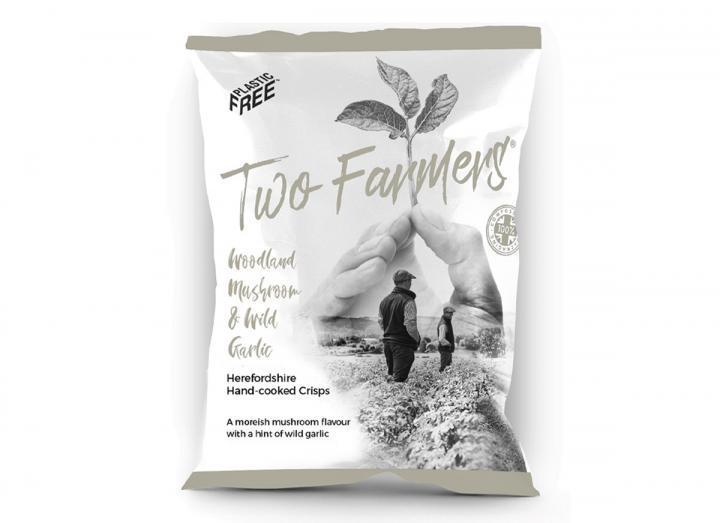 Two Farmers Woodland Mushroom & Wild Garlic crisps 150g