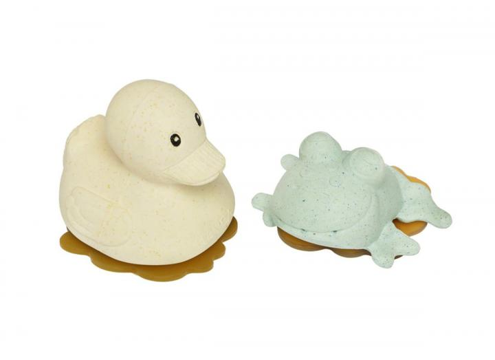 Upcycled Frog & Rubberduck in Sand & Sage from HEVEA