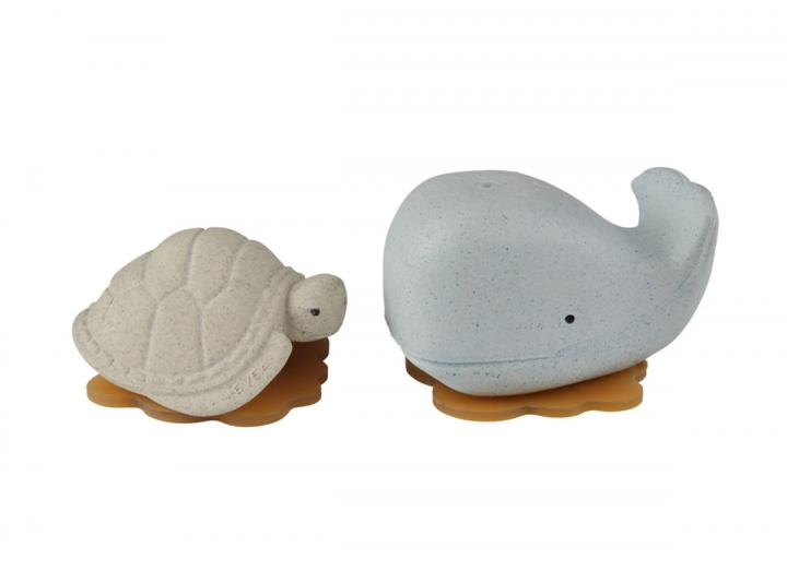 Upcycled whale & turtle blue & vanilla