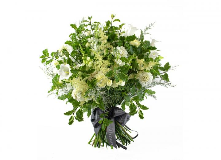 Vintage White bouquet, hand-tied by Tregothnan