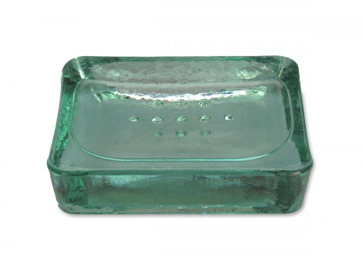 Recycled glass soap dish from Garden Trading