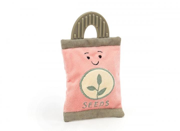 Whimsy garden seed packet cuddly toy from Jellycat