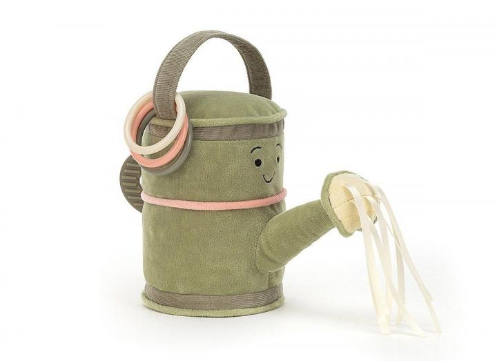 Whimsy garden watering can cuddly toy from Jellycat