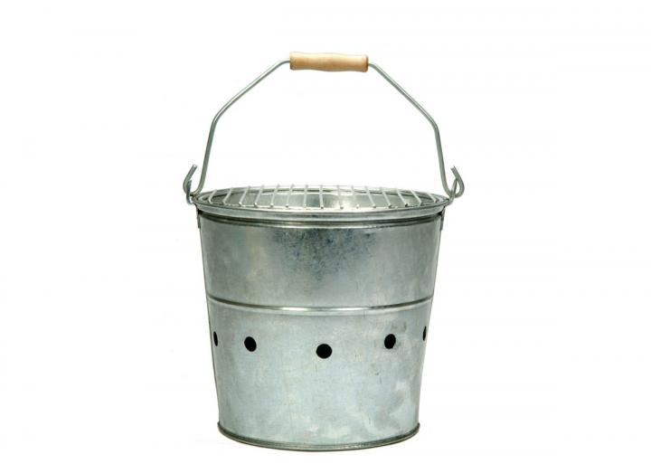 Whitstable galvanised steel bucket bbq from Garden Trading