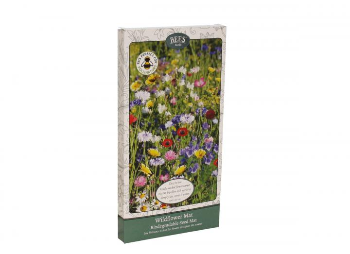 Wildflower mat biodegradable seed carpet
