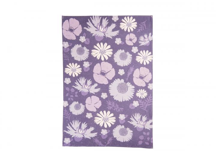 Eden Project wildflower print organic cotton tea towel
