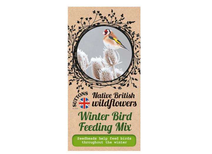 Native British wildflower seeds winter bird feeding mix