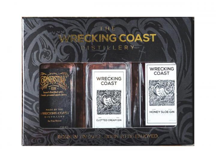 The Wrecking Coast Distillery miniatures gift set