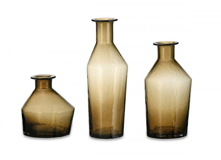 Zaani glass vases in coffee from Nkuku