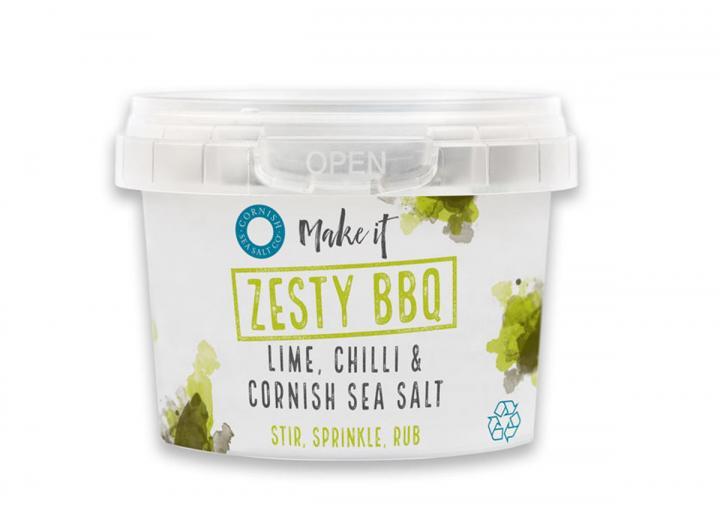 Zesty BBQ pinch salt from the Cornish Sea Salt Co.