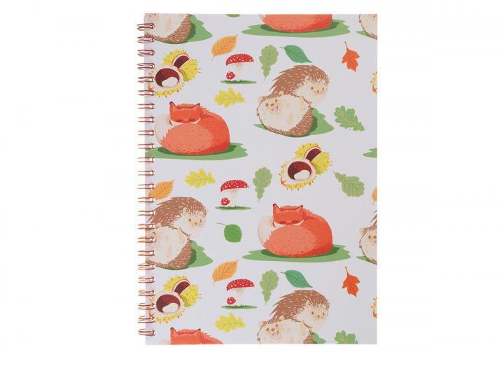 A5 notebook woodland