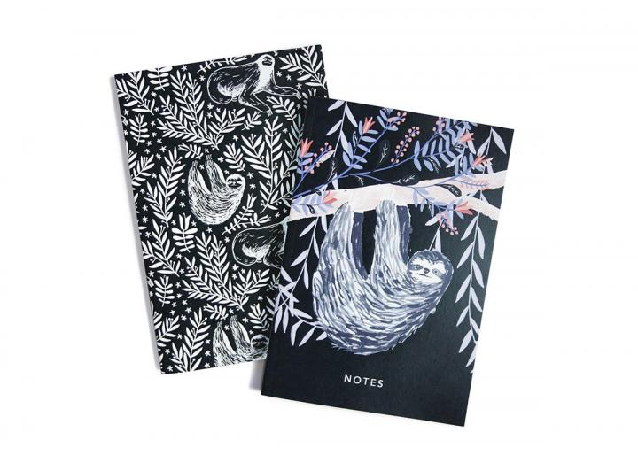A6 Two pack notebook sloths