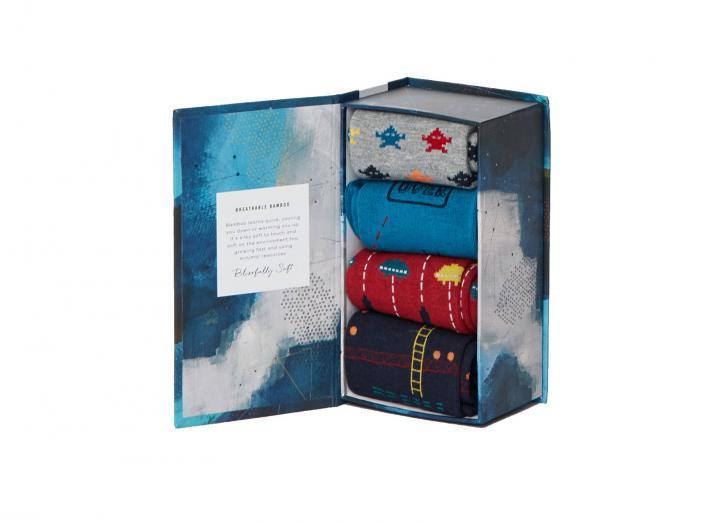 Arcade bamboo sock gift box