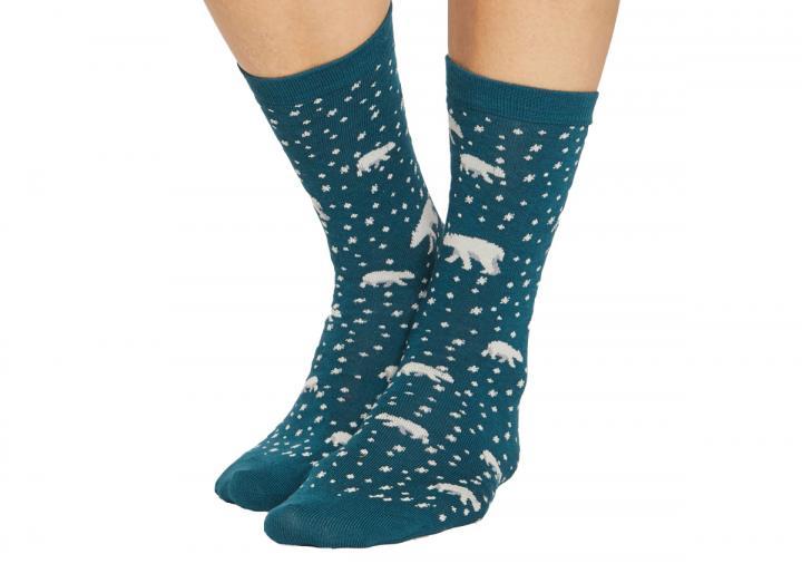 Arctic polar bear socks