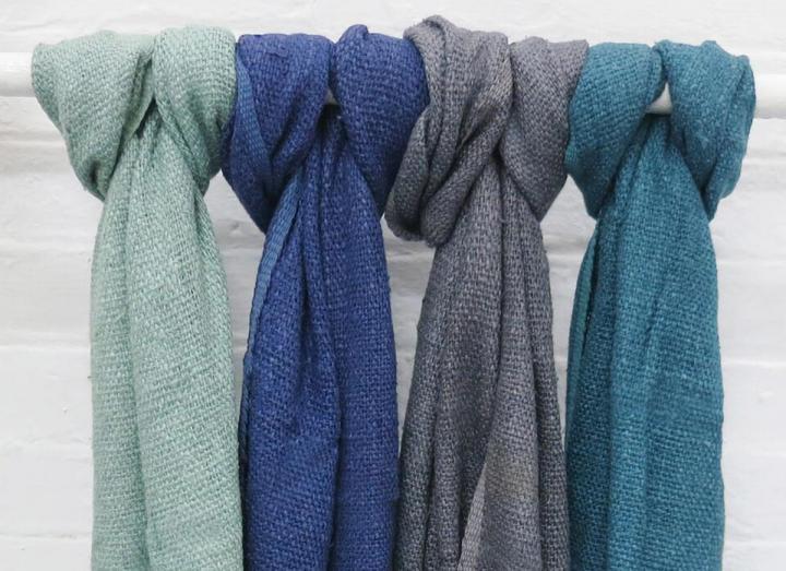 Banana yarn scarves