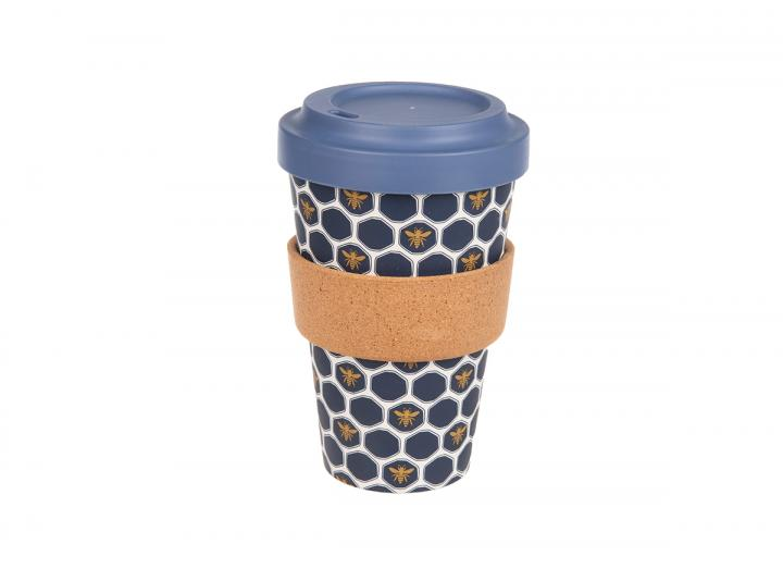 Bee bamboo cup