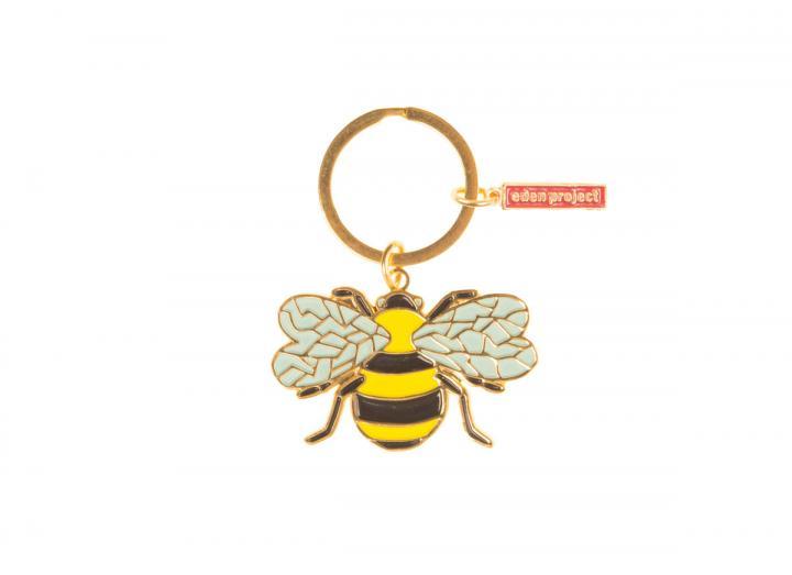Bee enamel keyring