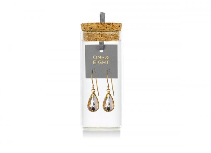 Blush glass earrings