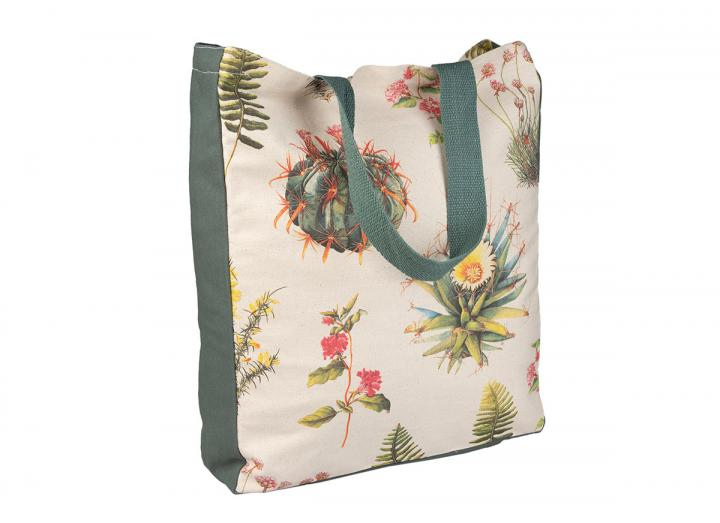 Botanical cotton tote bag