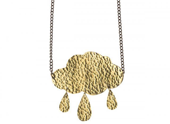 Brass cloud necklace