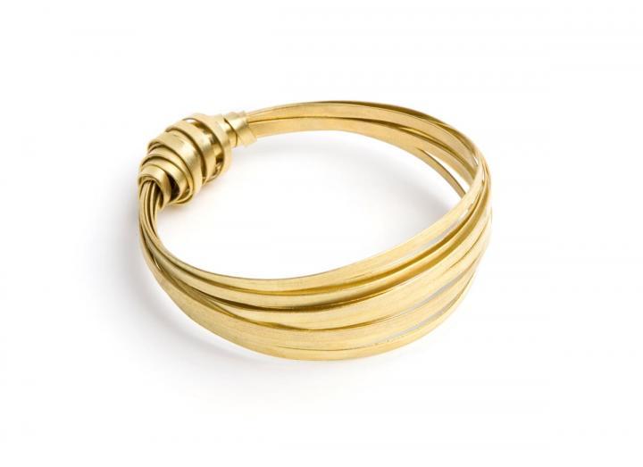 Brass ribbon bangle