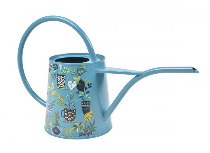 Brie Harrison teal patterned watering can