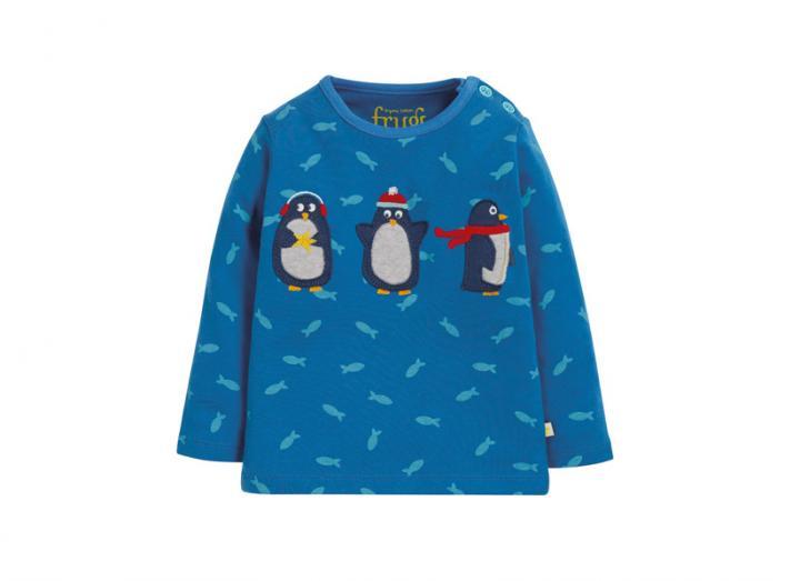 Button applique top penguin