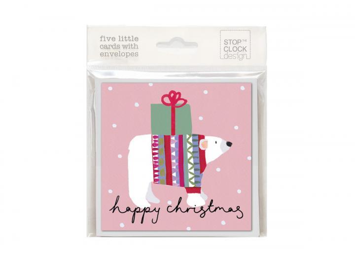 Christmas card pack polar bear