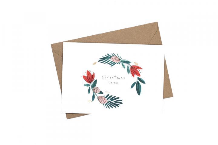 Christmas love Christmas card